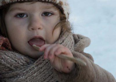 Dégustation de tire sur neige
